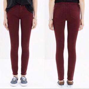 Madewell | Maroon Skinny Skinny Jeans